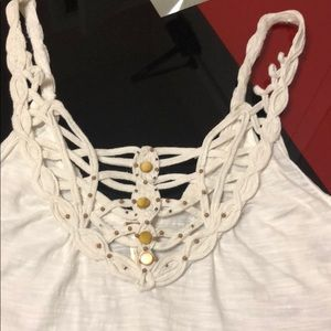 FP white/ivory lace top,size S,excellent condition
